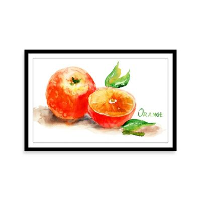 12-Inch x 9-Inch Orange Framed Wall Art