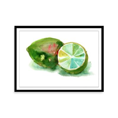 Watercolor Lime Framed Print Wall Art
