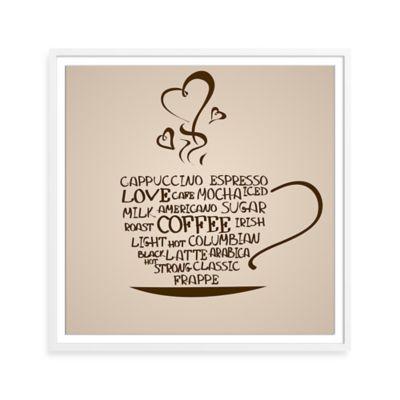 Watercolor Coffee Love Framed Print Wall Art