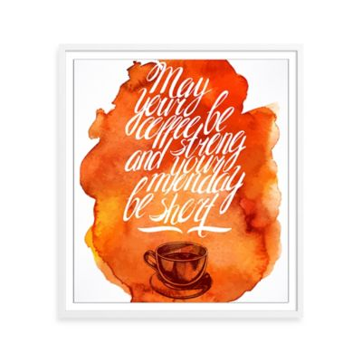 Monday Coffee Blessing Framed Print Wall Art