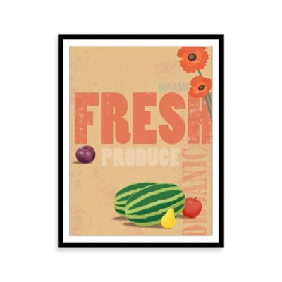 Fresh Organics Framed Print