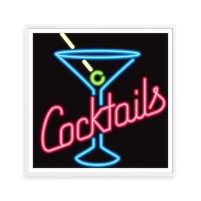 Neon Cocktails Framed Print