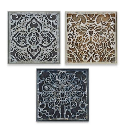 Ren-Wil Estate Gardens 20-Inch x 20-Inch Wall Art (Set of 3)