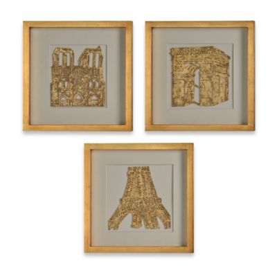 Ren-Wil The Old Continent 3-Piece Framed Wall Art