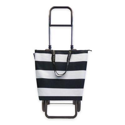 Rolser Lido Logic Shopping Cart in Black/White