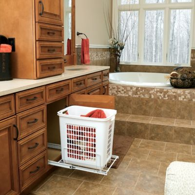 Rev-A-Shelf® Pull-Out Hamper in White
