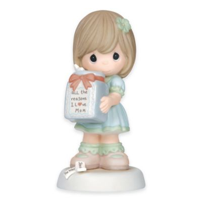"Precious Moments® ""All the Reasons I Love Mom"" Girl Figurine"