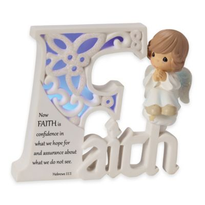 "Precious Moments® ""Faith"" Angel LED Plaque"
