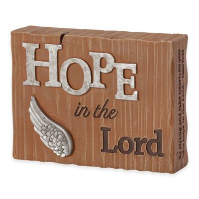 "Precious Moments® Pray it Forward ""Hope in the Lord"" Plaque"