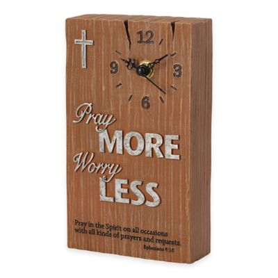 "Precious Moments® Pray it Forward ""Pray More Worry Less"" Clock"