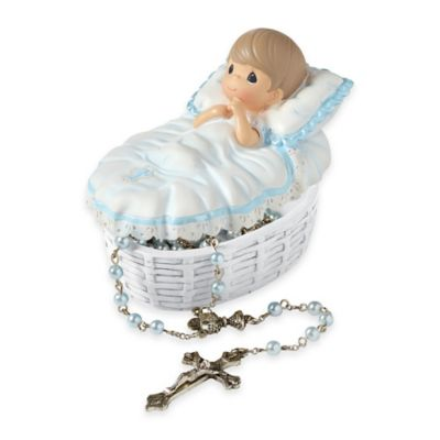 Precious Moments® Baptized in His Name Boy Rosary Box