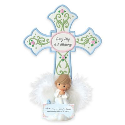 "Precious Moments® ""Every Day is a Blessing"" Cross Figurine"