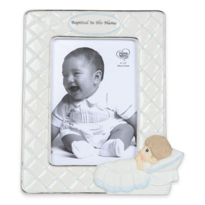 "Precious Moments® ""Baptized in His Name"" 4-Inch x 6-Inch Boy Picture Frame"