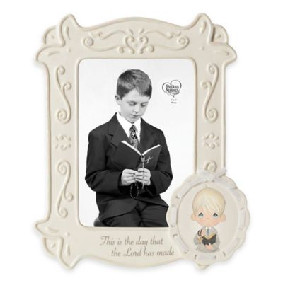 "Precious Moments® ""This is the Day the Lord Has Made"" 4-Inch x 6-Inch Communion Boy Frame"