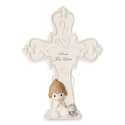 "Precious Moments® ""Bless This Child"" Baby Girl Cross"