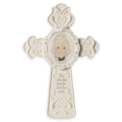 "Precious Moments® ""This Is The Day The Lord Has Made"" Girl Communion Cross"