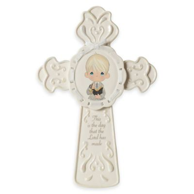 "Precious Moments® ""This Is The Day The Lord Has Made"" Boy Communion Cross"