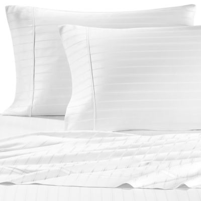 Pure Beech Modal® Dobby Stripe Full Sheet Set in White