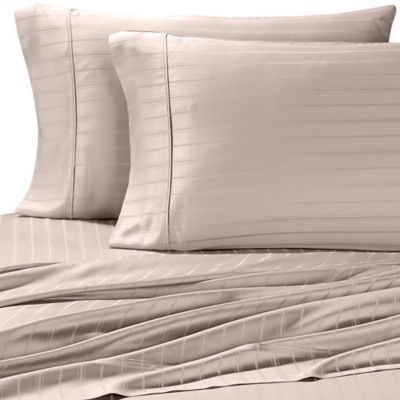 Pure Beech Modal® Dobby Stripe King Sheet Set in Silver