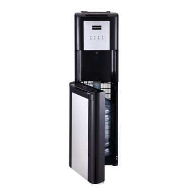 Hamilton Beach 5-Gallon Hot, Cold and Room Temperature Bottom-Loading Water Dispenser in Black