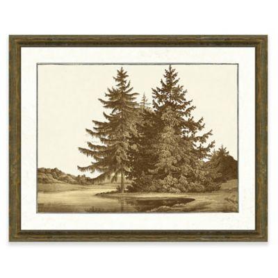 Sepia Forest Scene I Giclée Framed Art Print