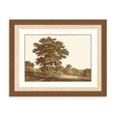 Sepia Forest Scene II Giclée Framed Art Print