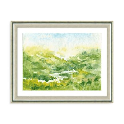 Watercolor Landscape I Giclée Framed Art Print