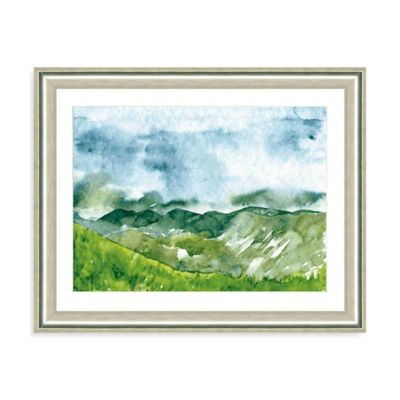 Watercolor Landscape III Giclée Framed Art Print