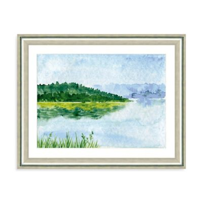 Watercolor Landscape IV Giclée Framed Art Print