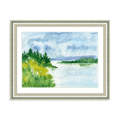 Watercolor Landscape VI Giclée Framed Art Print