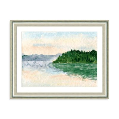 Watercolor Landscape VII Giclée Framed Art Print