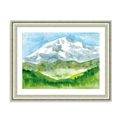 Watercolor Landscape VIII Giclée Framed Art Print