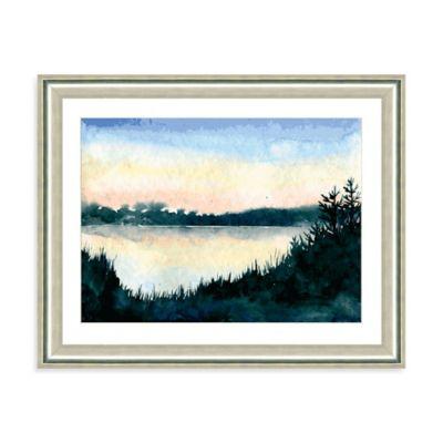 Watercolor Sunset II Giclée Framed Art Print