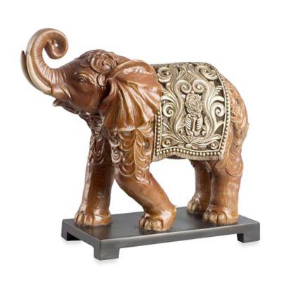 Abbyson Living® Thai Elephant Figural Statue in Brown