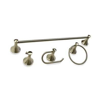 Palermo 4-Piece Bath Hardware Set in Brushed Nickel