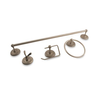 Oxford 4-Piece Bath Hardware Set in Satin Nickel