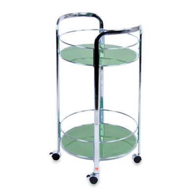 Versa Rolling Glass Bath Cart