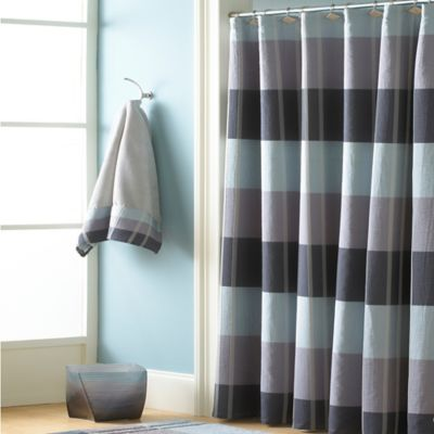 Croscill® Fairfax 84-Inch x 72-Inch Extra Long Shower Curtain in Slate