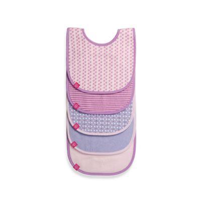 Lassig™ 5-Pack Bib Set in Pink Pattern