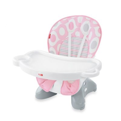 Fisher-Price® Deluxe Spacesaver High Chair in Pink Ellipse™