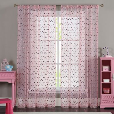 VCNY Merlin 84-Inch Window Curtain Panel in Pink