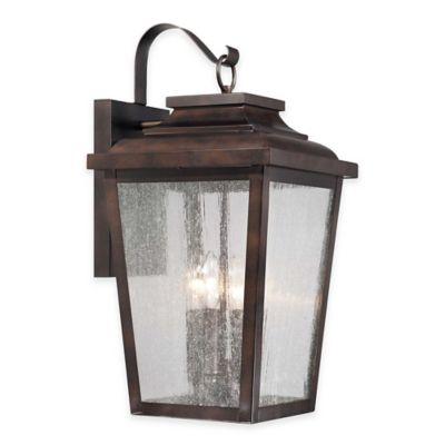 Minka Lavery® Irvington Manor 4-Light Wall-Mount Outdoor Lantern in Chelsea Bronze