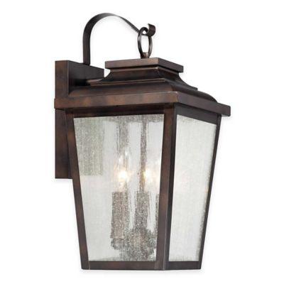 Minka Lavery® Irvington Manor 3-Light Wall-Mount Outdoor Lantern in Chelsea Bronze