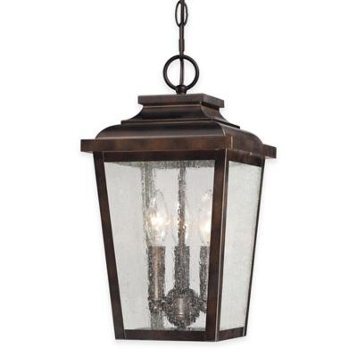 Minka Lavery® Irvington Manor 3-Light Ceiling-Mount Outdoor Hanging Lantern in Chelsea Bronze