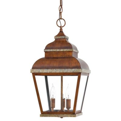 Minka Lavery® Mossoro™ 3-Light Ceiling-Mount Outdoor Light in Walnut