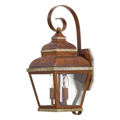 Minka Lavery® Mossoro™ 2-Light Wall-Mount Outdoor Light in Walnut
