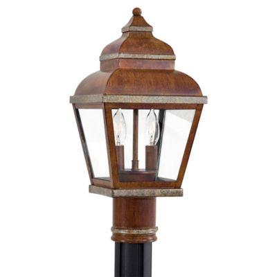 Minka Lavery® Mossoro™ 2-Light Post-Mount Outdoor Light in Walnut