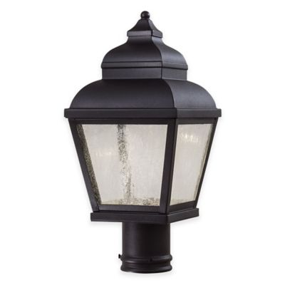 Minka Lavery® Mossoro™ 1-Light Post-Mount 16.75-Inch Outdoor LED Light in Black