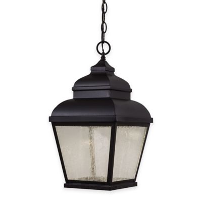 Minka Lavery® Mossoro™ 1-Light Ceiling-Mount Outdoor LED Light in Black