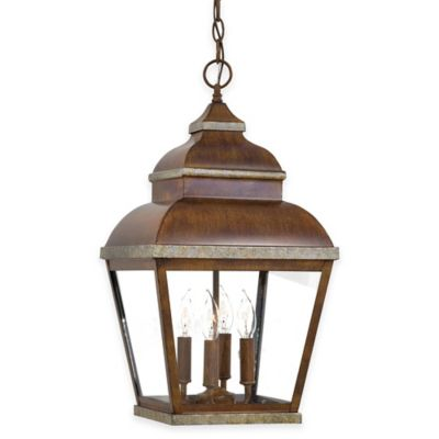 Minka Lavery® Mossoro™ 4-Light Ceiling-Mount Outdoor Light in Walnut
